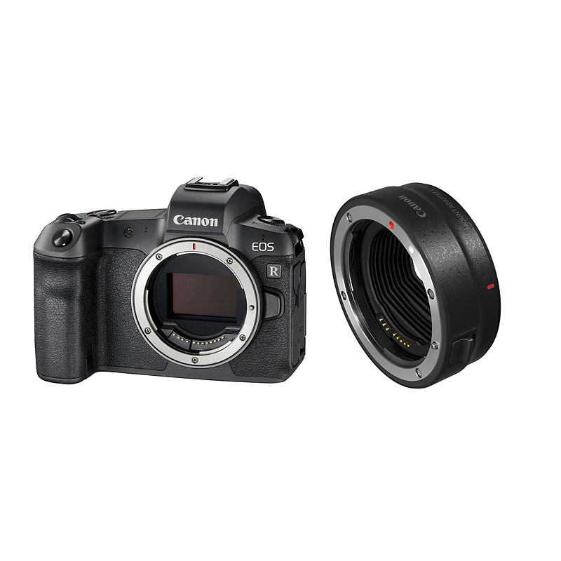 Canon EOS R Body and Mount Adapter EF-EOS R