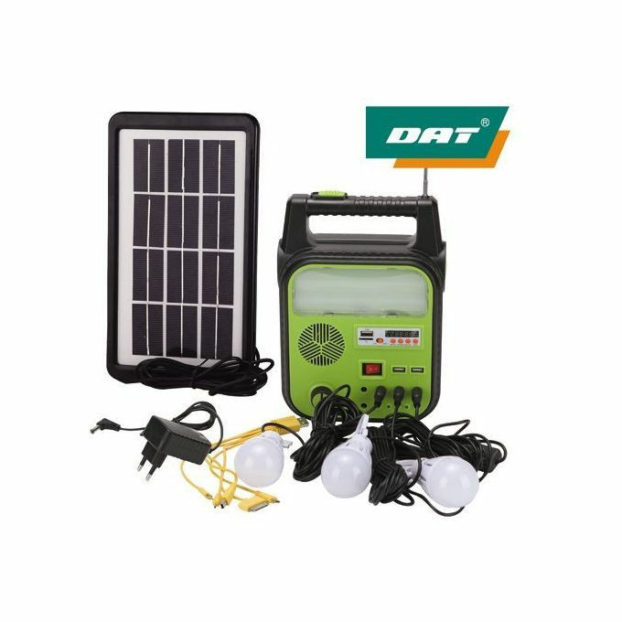 DAT solar lighting system with radio & MP3 player AT - 9012B