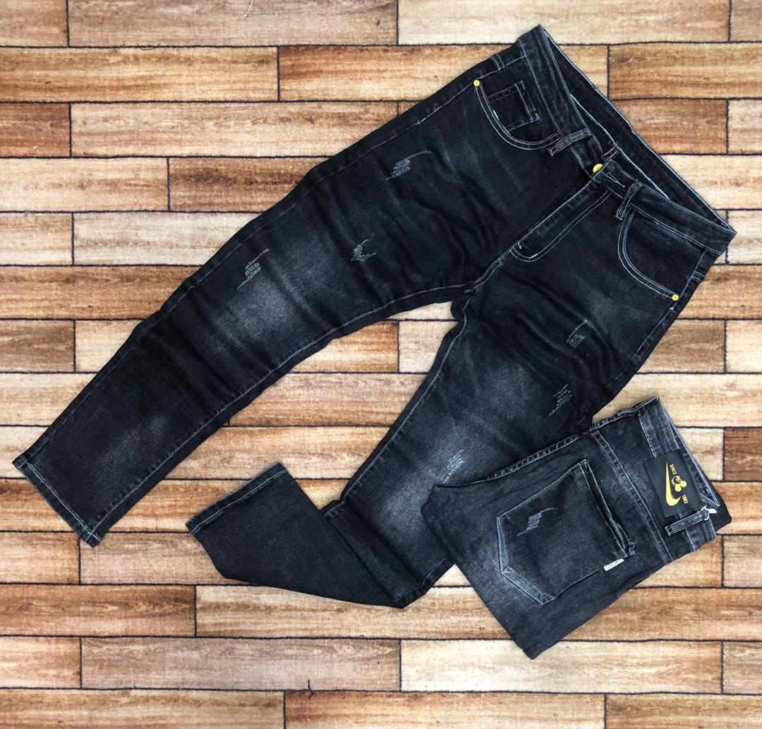 Fashion Slim Fit Jeans - For Men black (faded)