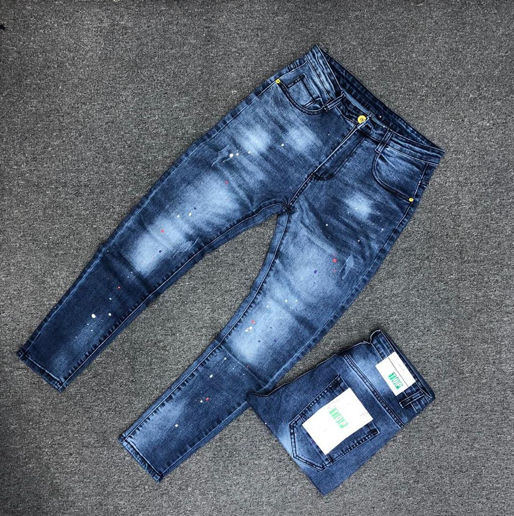 Fashion Slim Fit Jeans - For Men(faded blue)